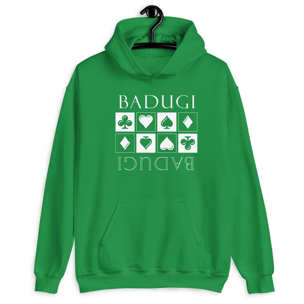 Badugi Hoodie-Indigo Irish Green