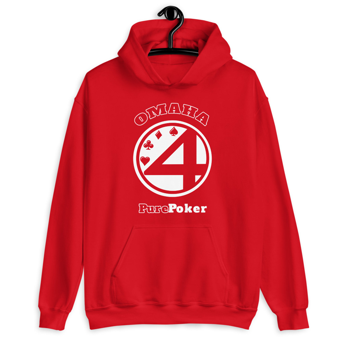 Omaha Pure Poker Hoodie-Red