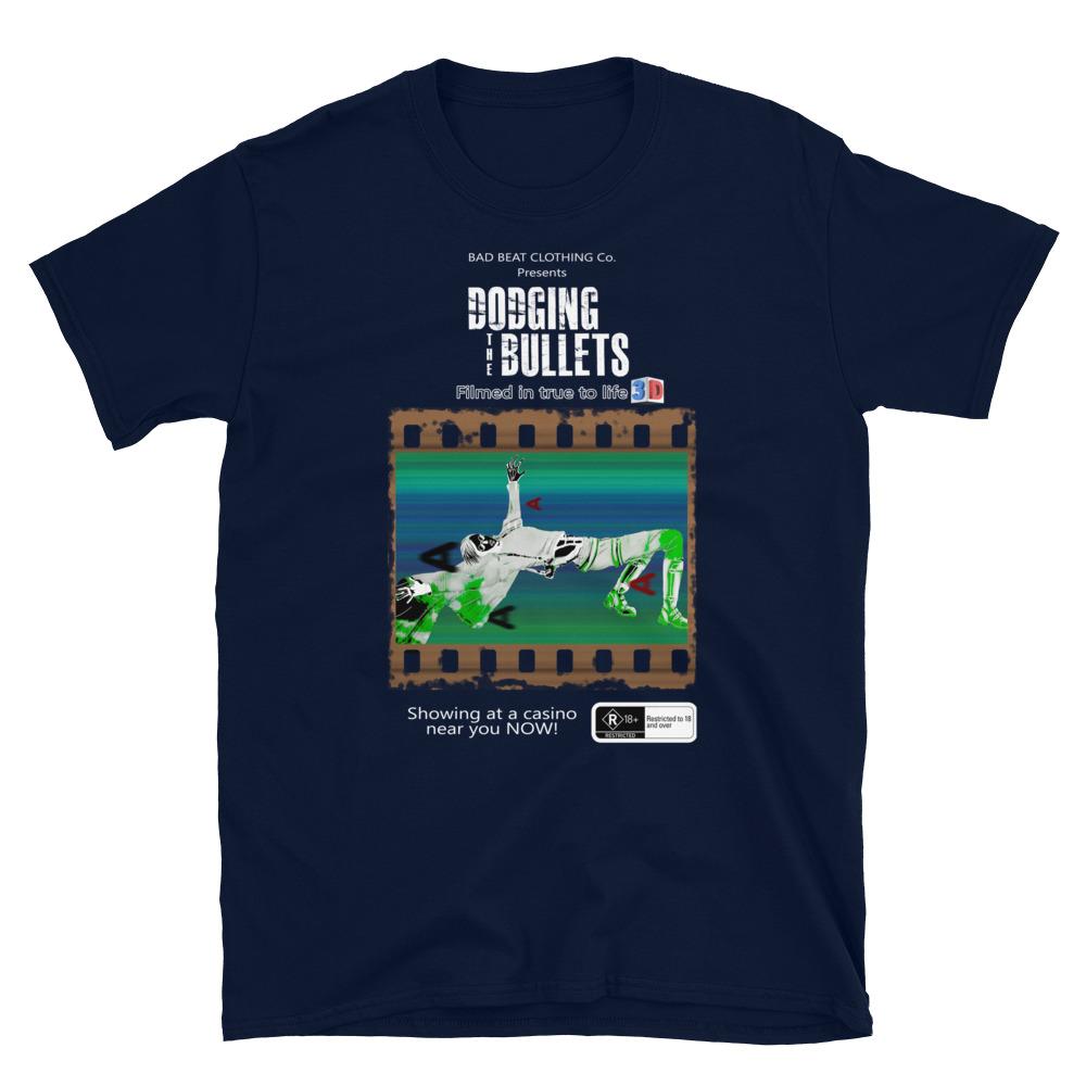 Dodging The Bullets Poker T-Shirt-Navy