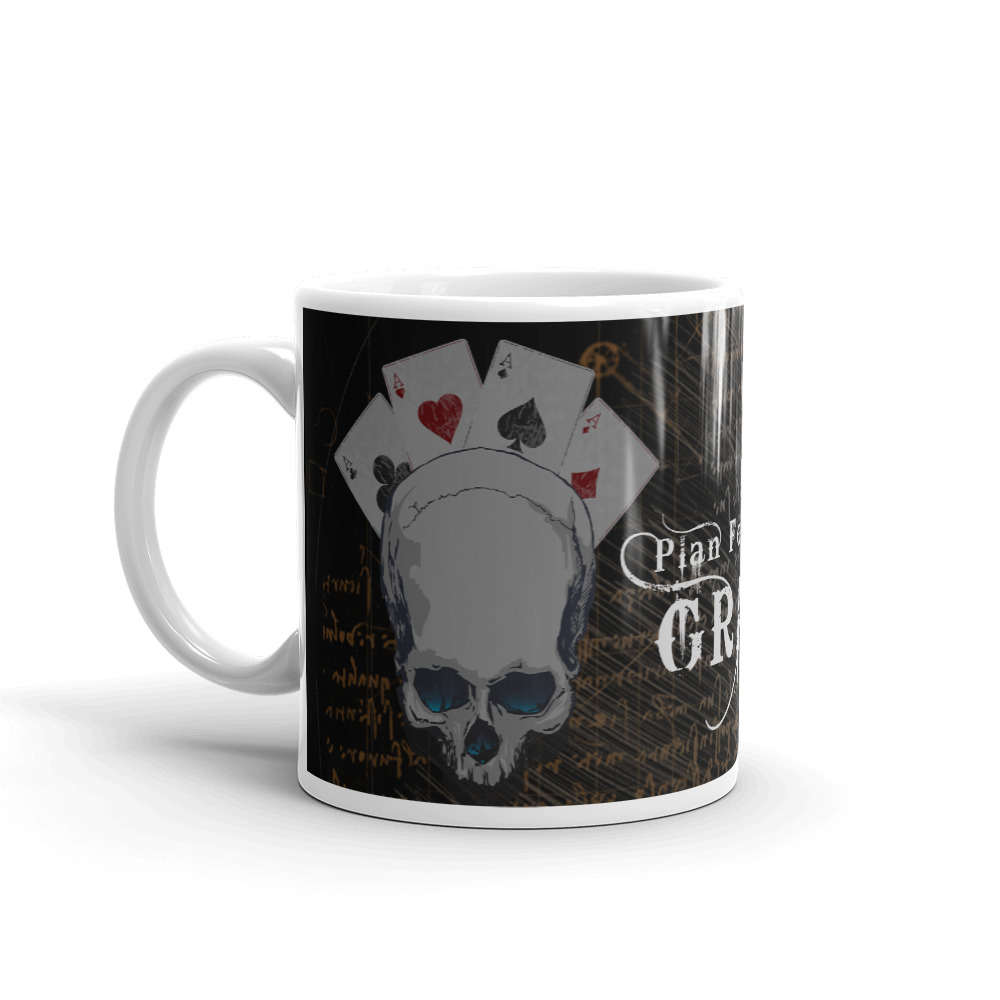Plan for the Grind Poker Mug-Left