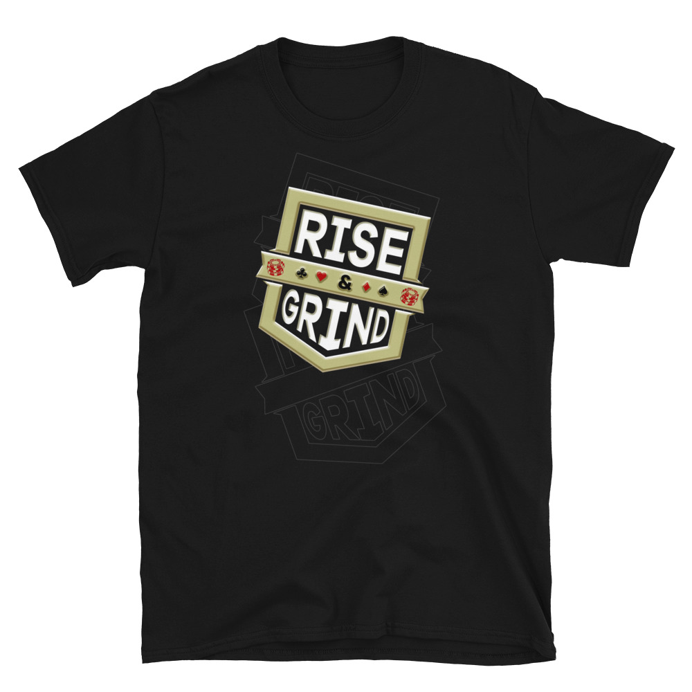 Rise And Grind Poker T-Shirt-Black