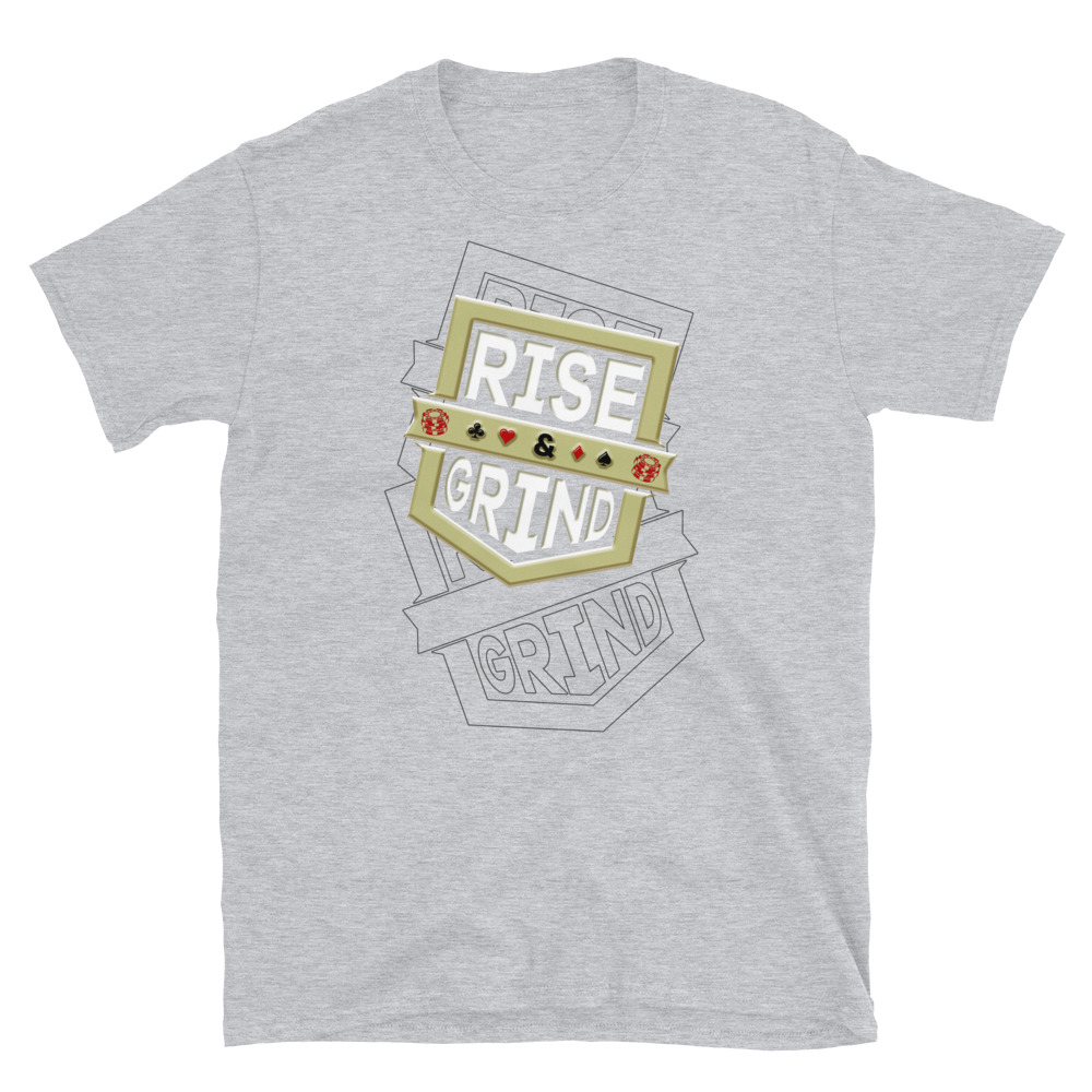 Rise And Grind Poker T-Shirt-Sports Grey