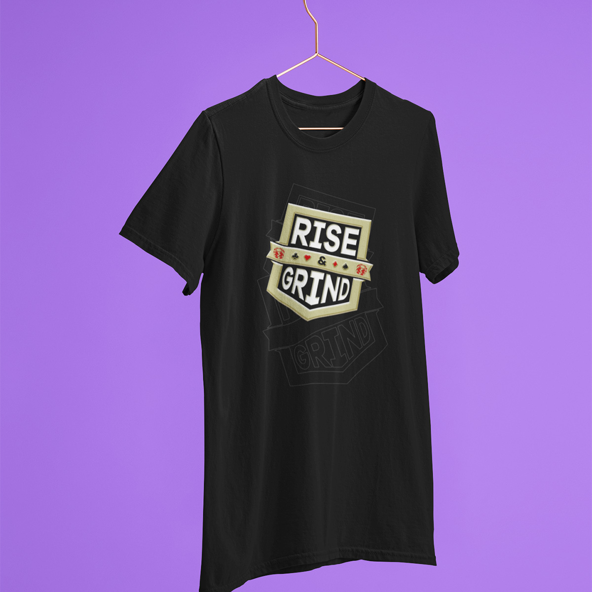 Rise And Grind Poker T-Shirt