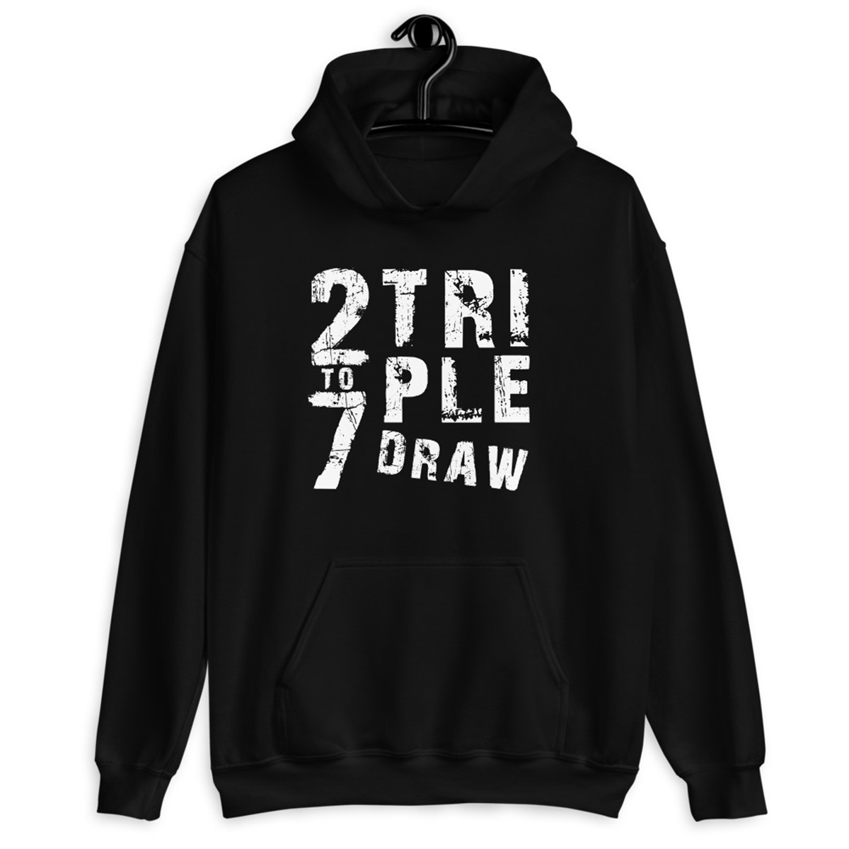 2 To 7 Triple Draw Poker Hoodie-Black