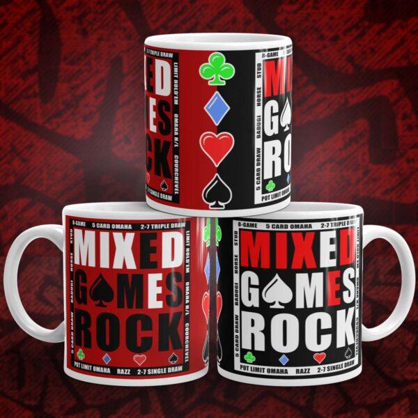 Mixed Games Rock Poker Mug