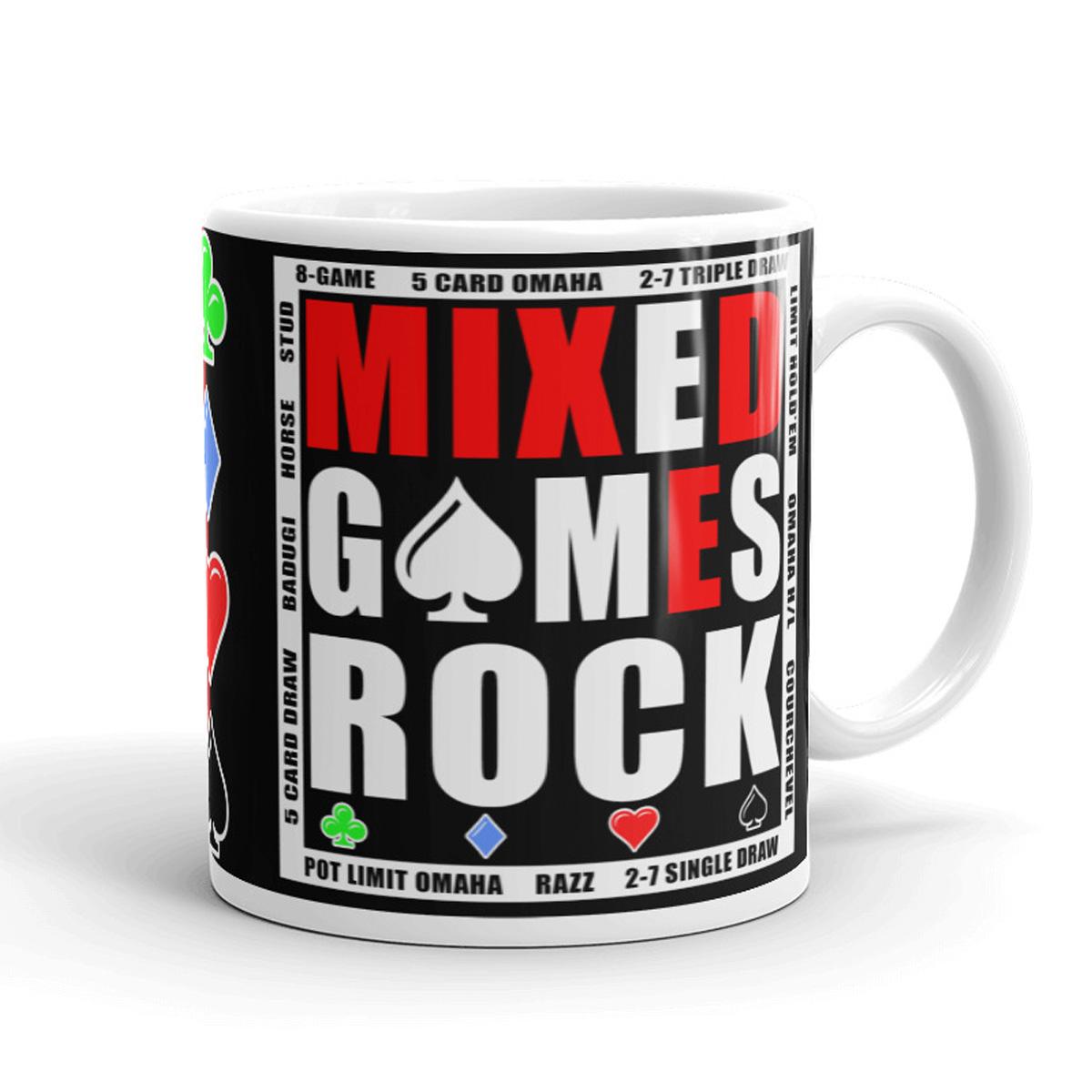 Mixed Games Rock Poker Mug - Right