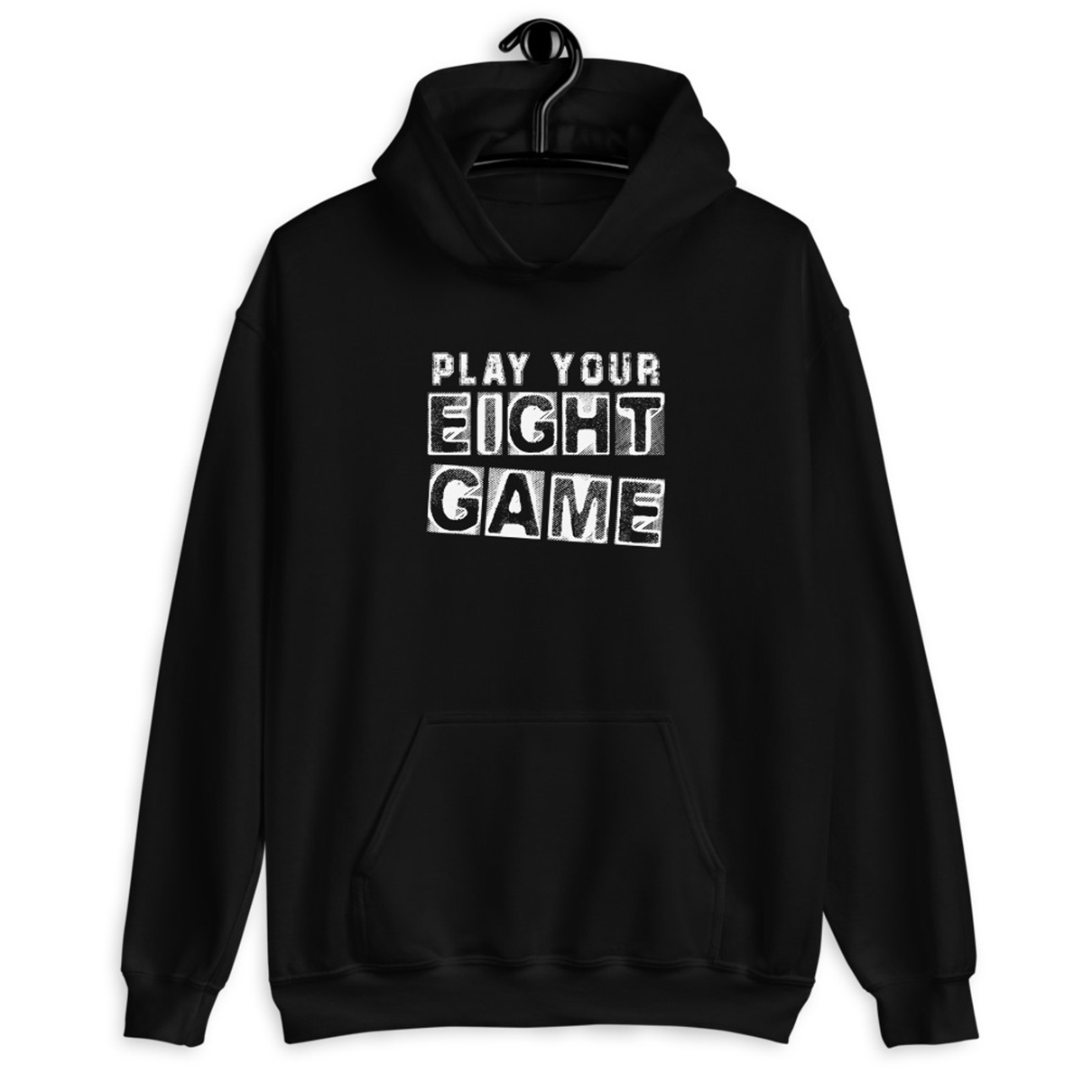 Play Your Eight Game Poker Hoodie-Black