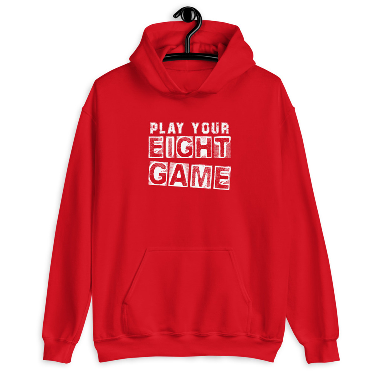 Play Your Eight Game Poker Hoodie-Red