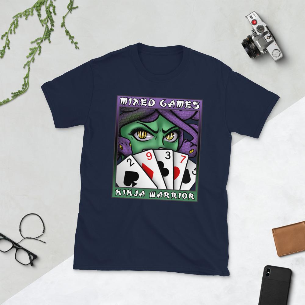Mixed Games Ninja Warrior T-Shirt-Navy