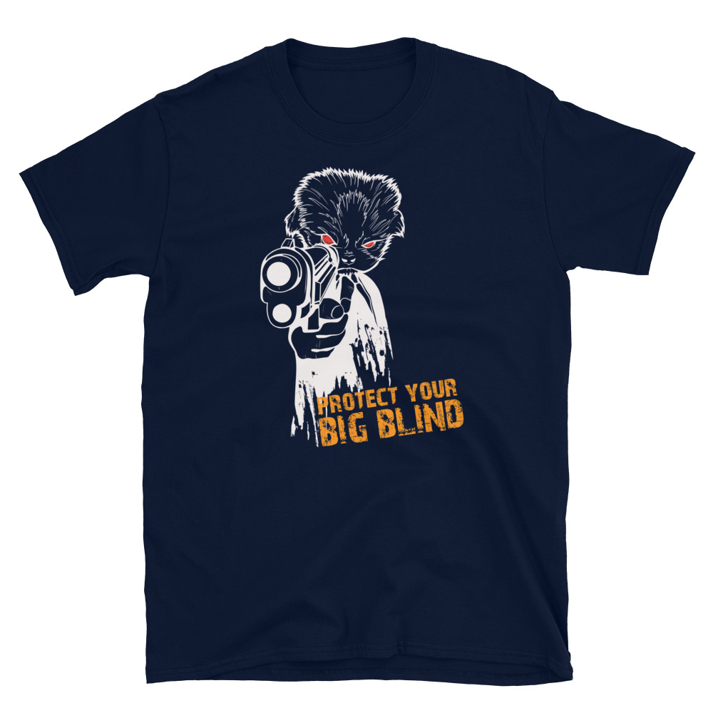 Protect Your Big Blind Poker T-Shirt-Navy