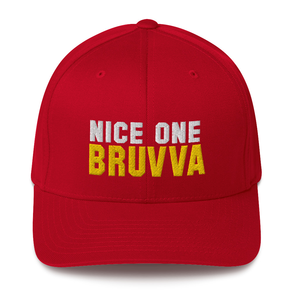 Nice-One-Bruvva-Baseball-Cap-Red