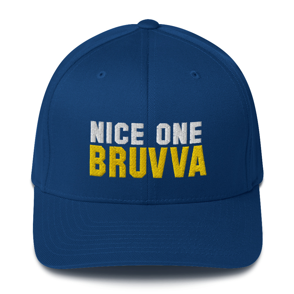 Nice-One-Bruvva-Baseball-Cap-Royal-Blue