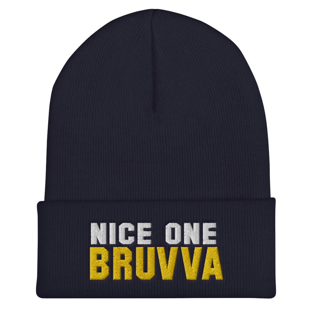 Nice-One-Bruvva-Cuffed-Beanie-Navy