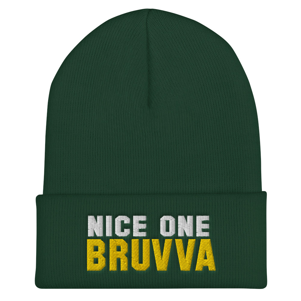 Nice-One-Bruvva-Cuffed-Beanie-Spruce