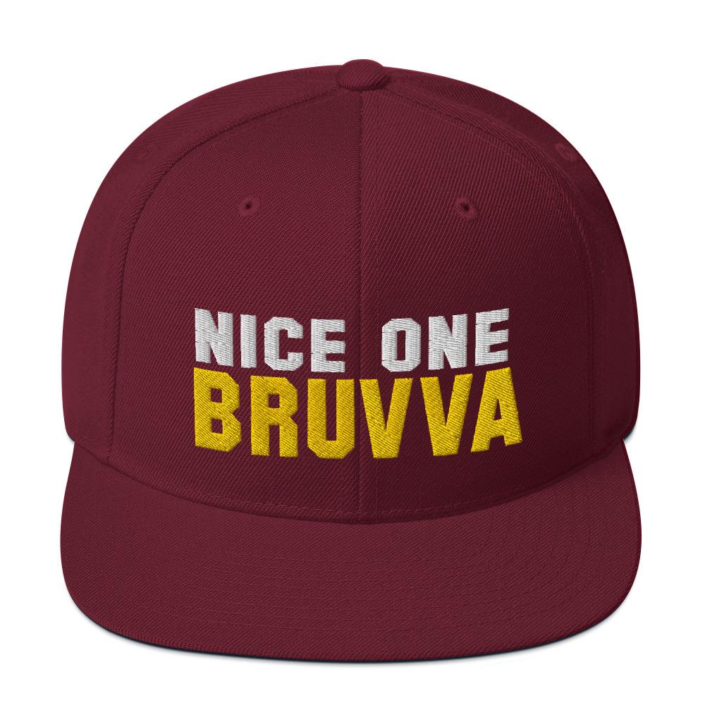 Nice-One-Bruvva-Snapback-Cap-Maroon