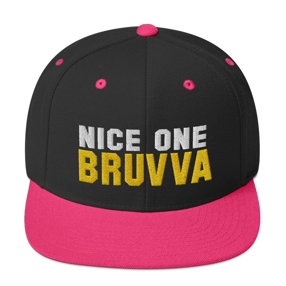 Nice-One-Bruvva-Snapback-Cap-Neon-Pink