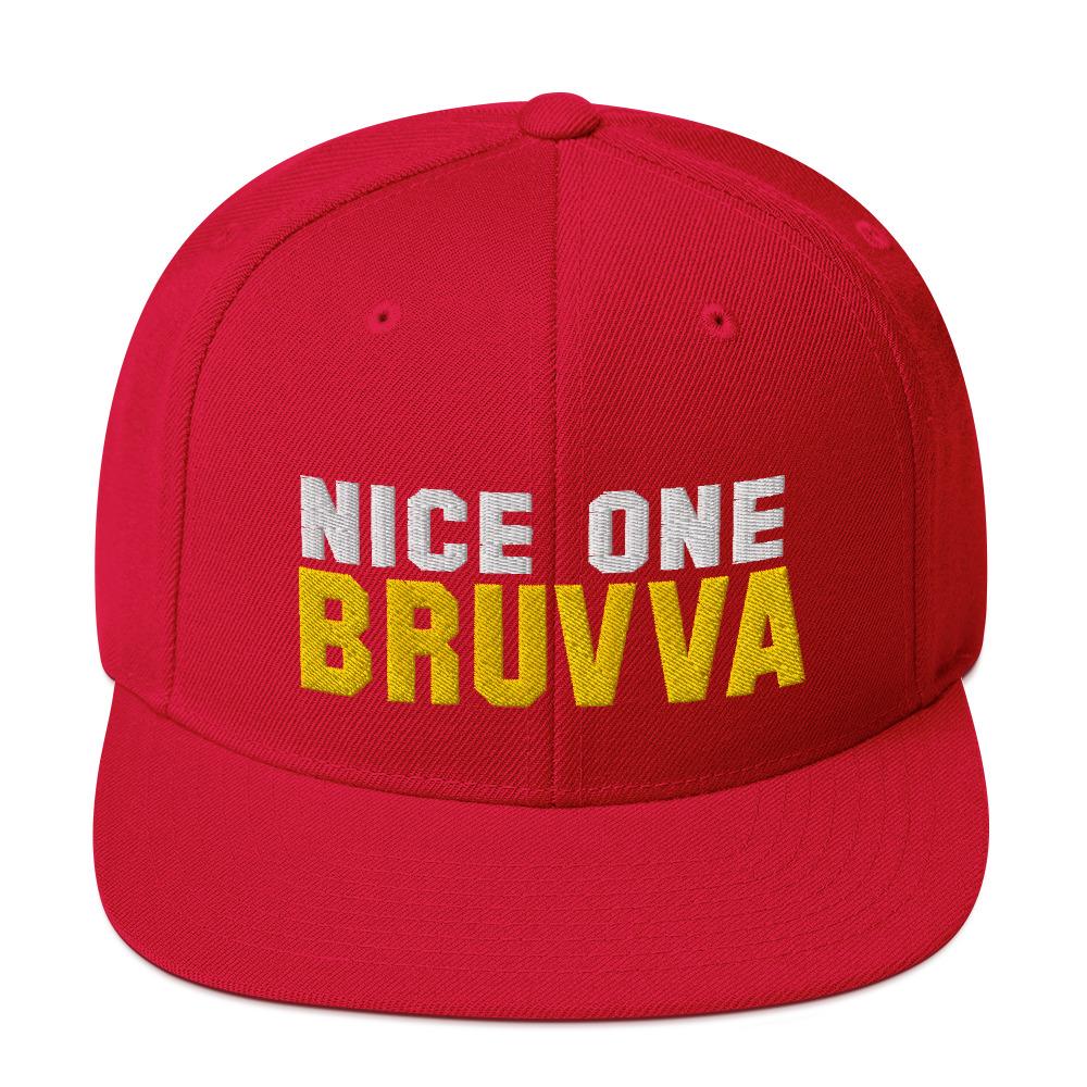 Nice-One-Bruvva-Snapback-Cap-Red
