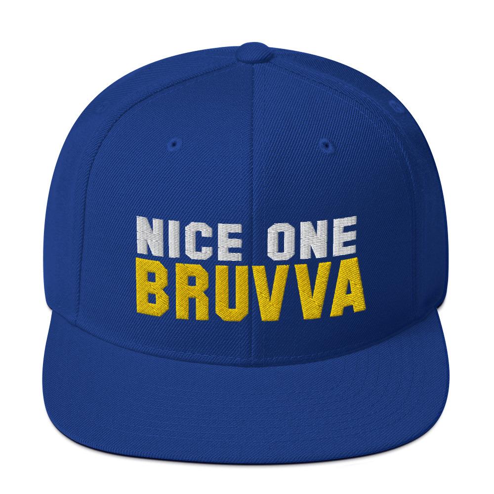 Nice-One-Bruvva-Snapback-Cap-Royal-Blue