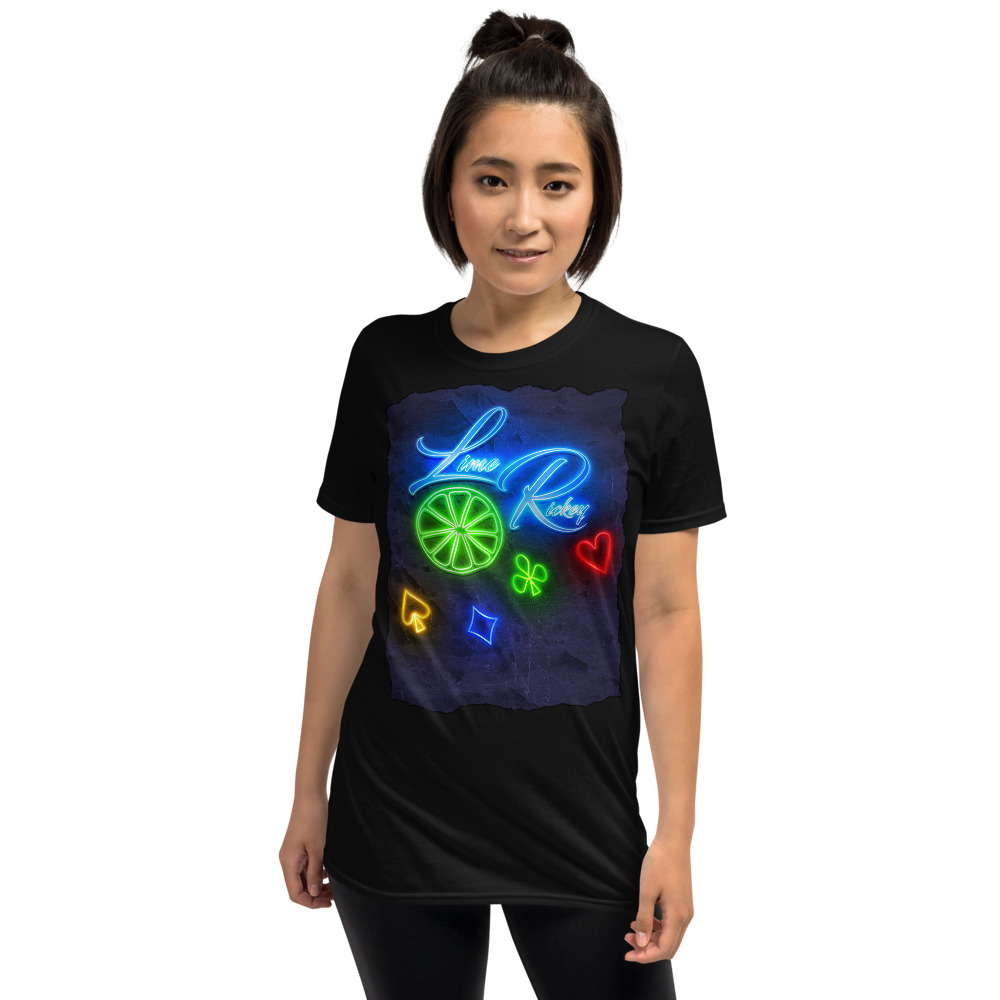 LimeRickey Poker T-Shirt-Black