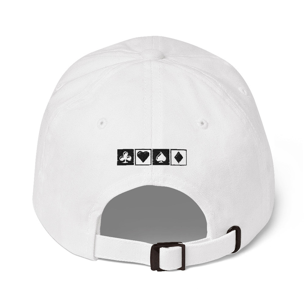 BadBeat Official Dad Hat - White Rear