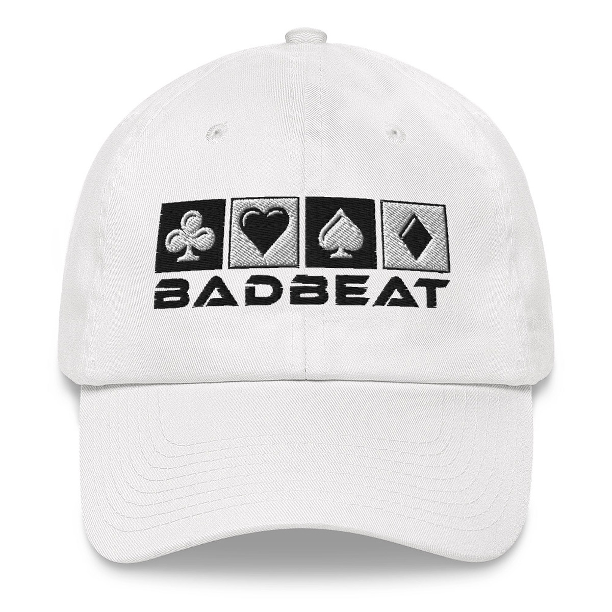 BadBeat Official Dad Hat - White