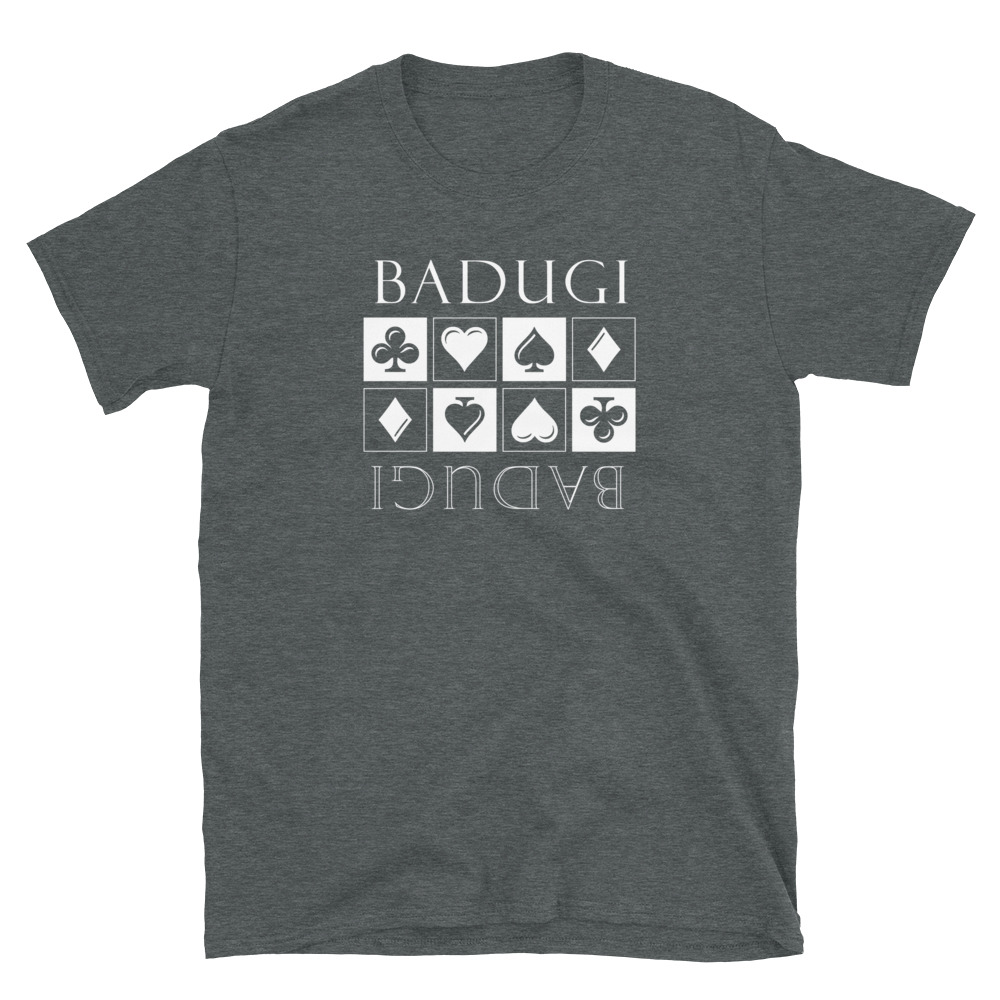 Badugi Poker T-Shirt-Dark Heather