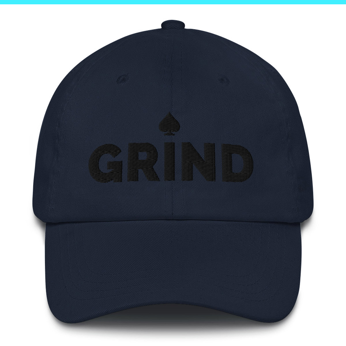 Grind Poker Dad Hat - Navy
