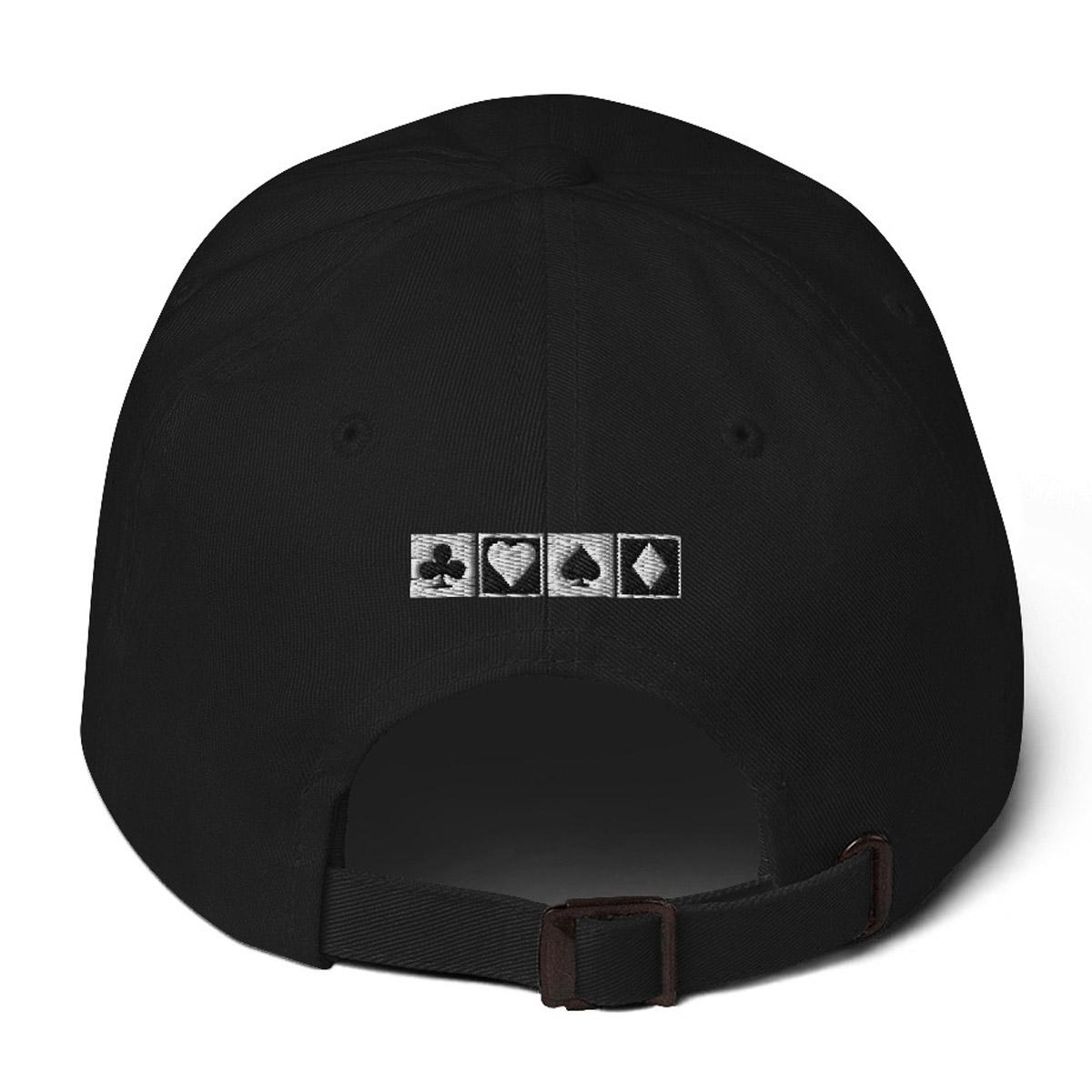 Online Poker Let US Play Dad Hat - Black Back