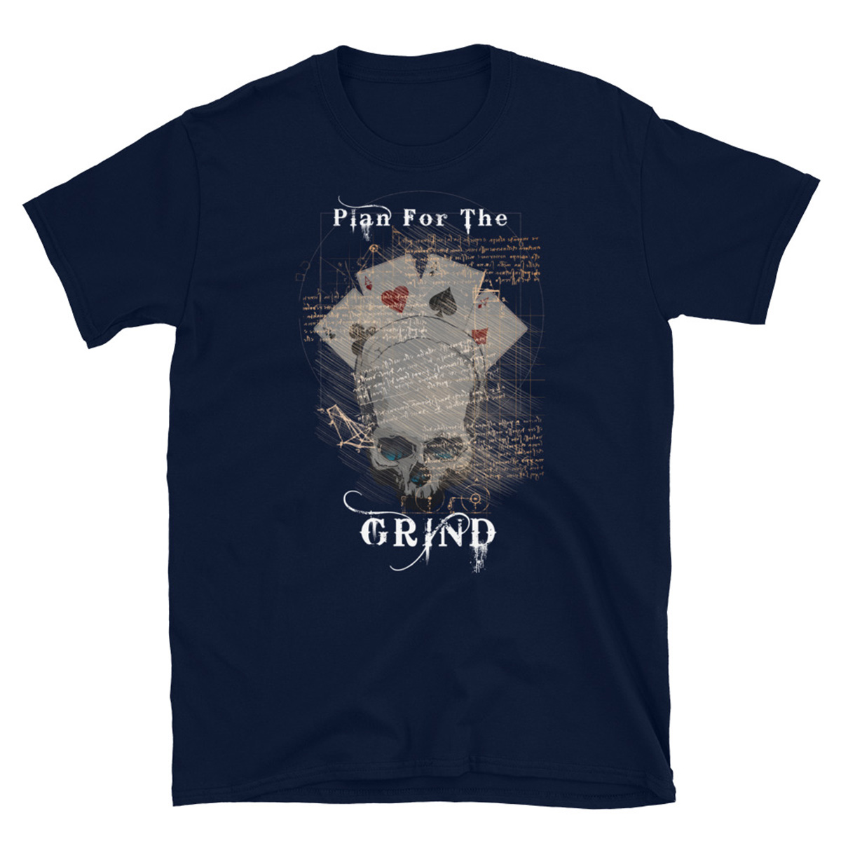 Plan For The Grind Poker T-Shirt - Navy