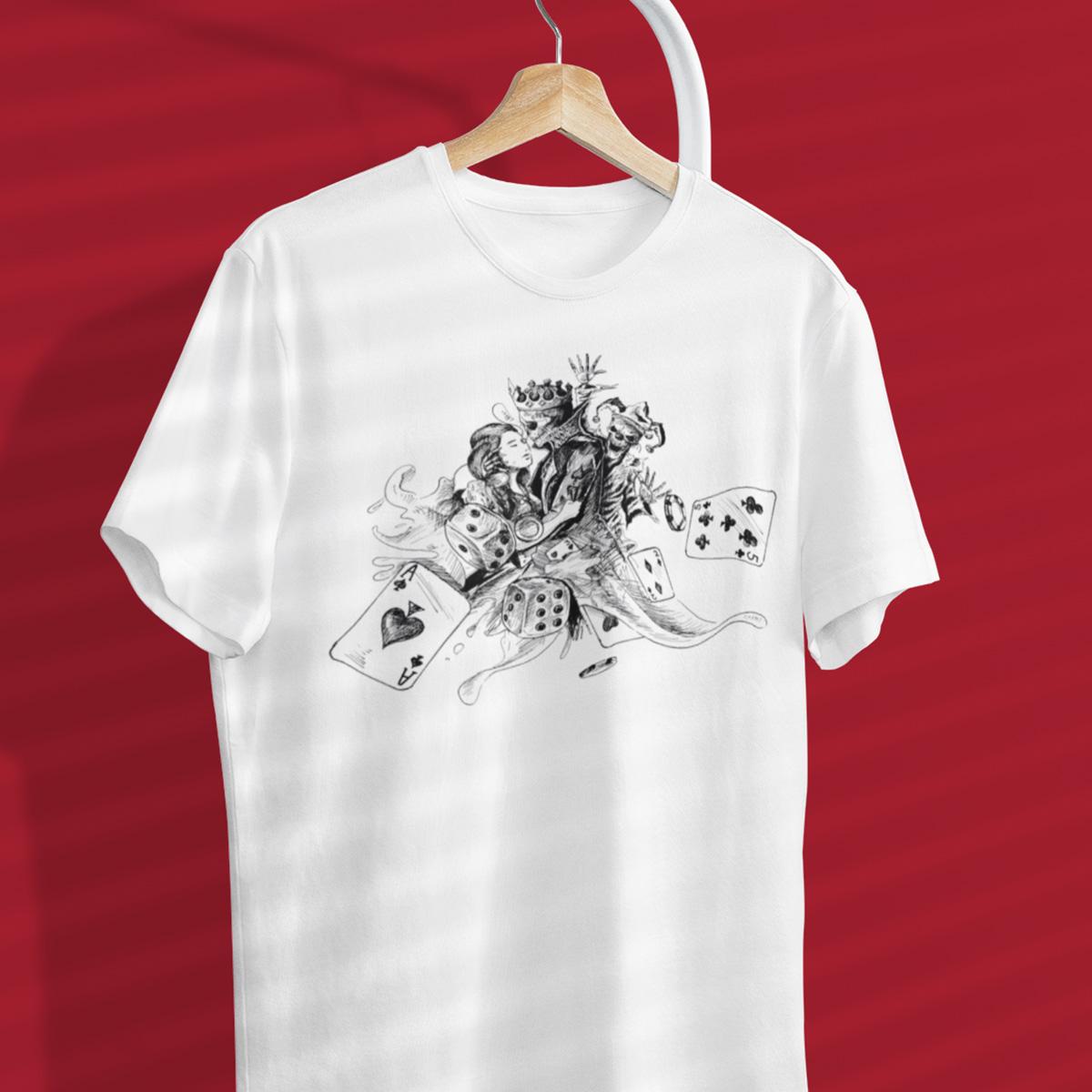 Lovers Gamble Poker T-Shirt