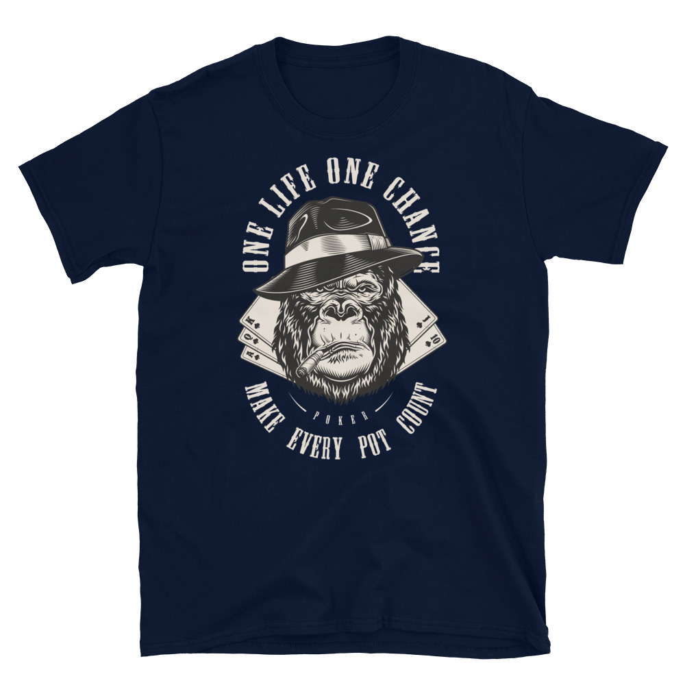 Make Every Pot Count Poker T-Shirt-Navy