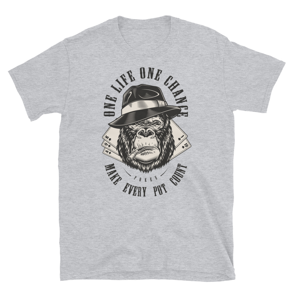 Make Every Pot Count Poker T-Shirt-Sports Grey