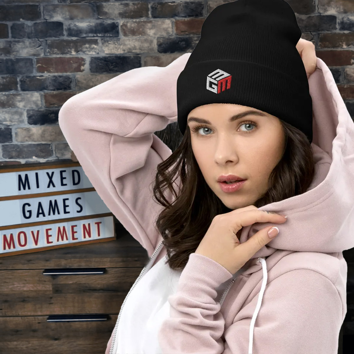 Mixed Games Movement Beanie Hat - Female Feature