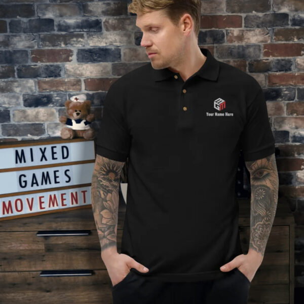 Mixed Games Movement Custom Polo Shirt - Male Feature