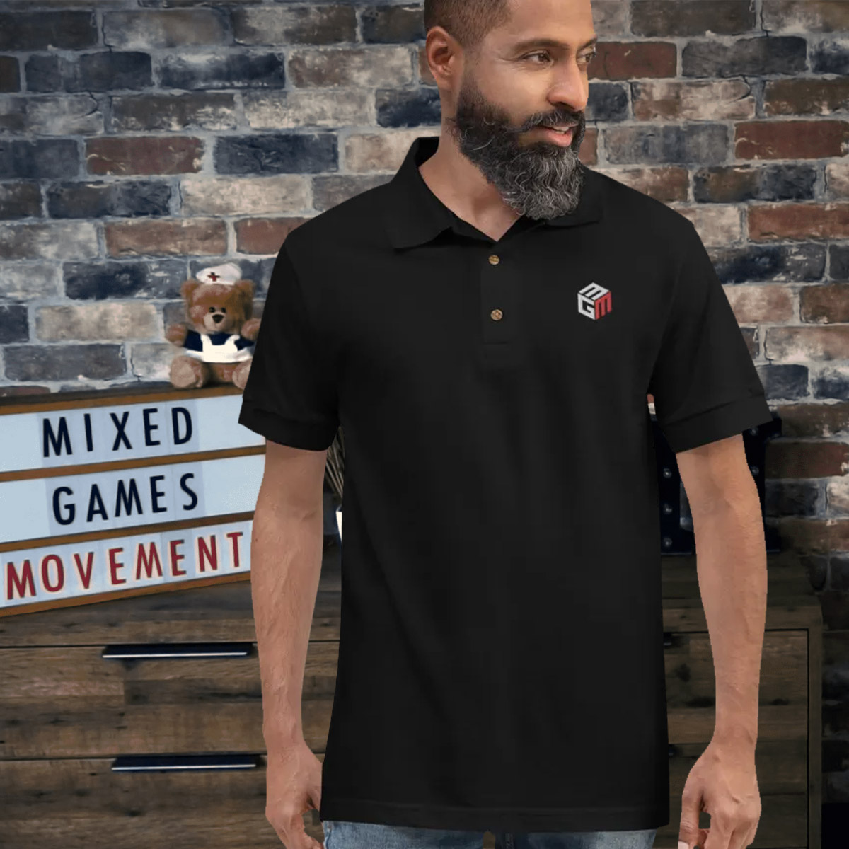 Mixed Games Movement Polo Shirt - Male Feature