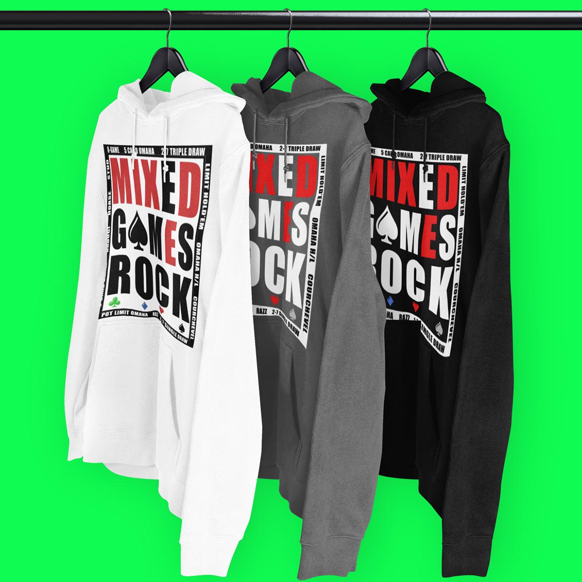 Mixed Games Rock Poker Hoodie
