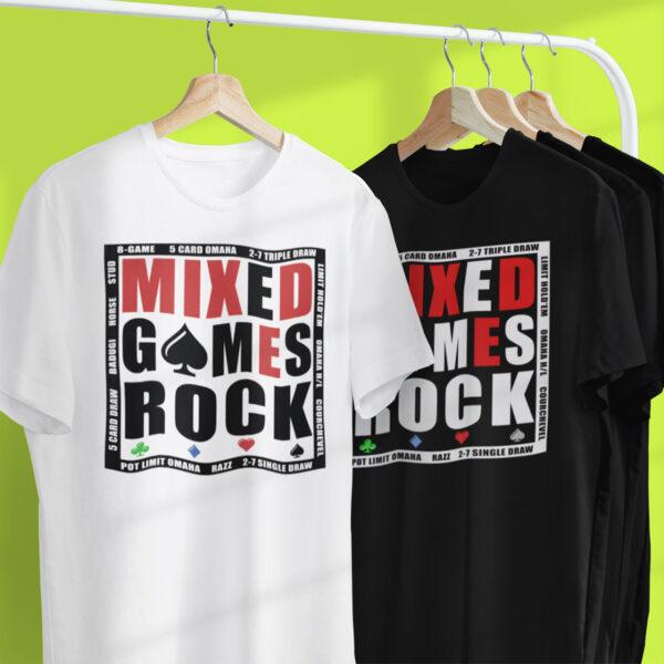 Mixed Games Rock Poker T-Shirt