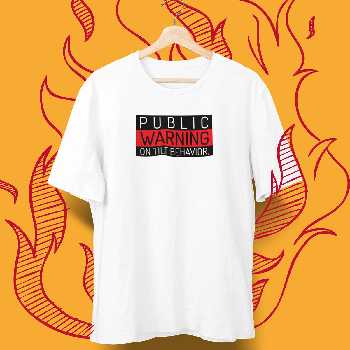 On Tilt Warning Poker T-Shirt