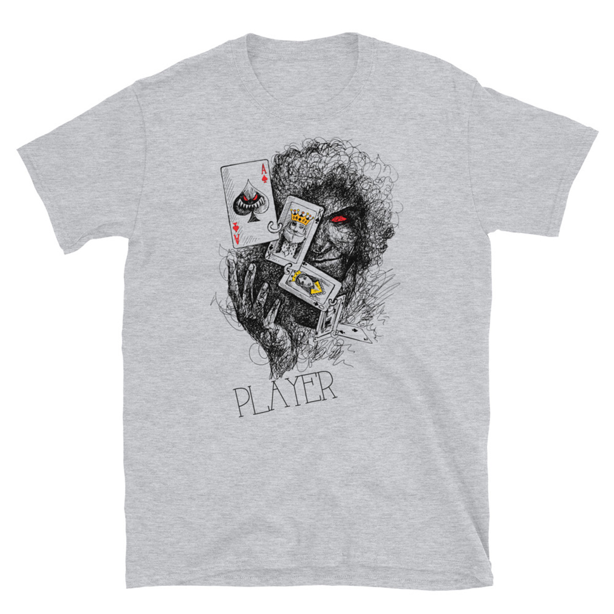Poker Player T-Shirt-Sports Grey