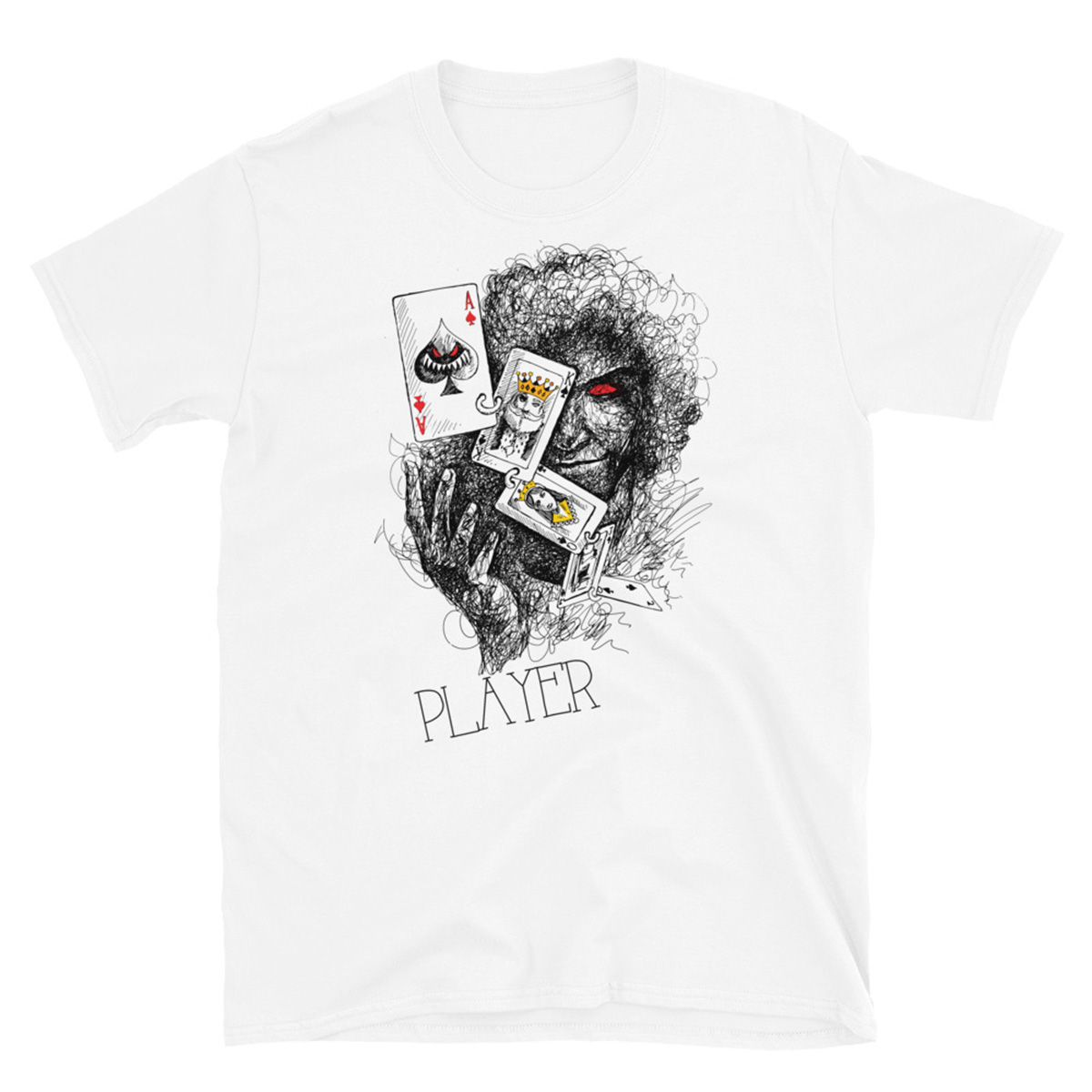 Poker Player T-Shirt-White