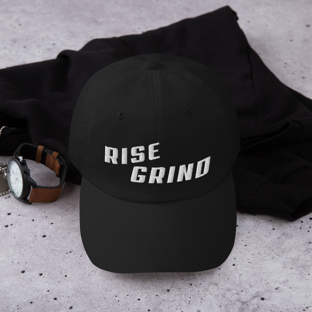 Rise Grind Poker Hat Black