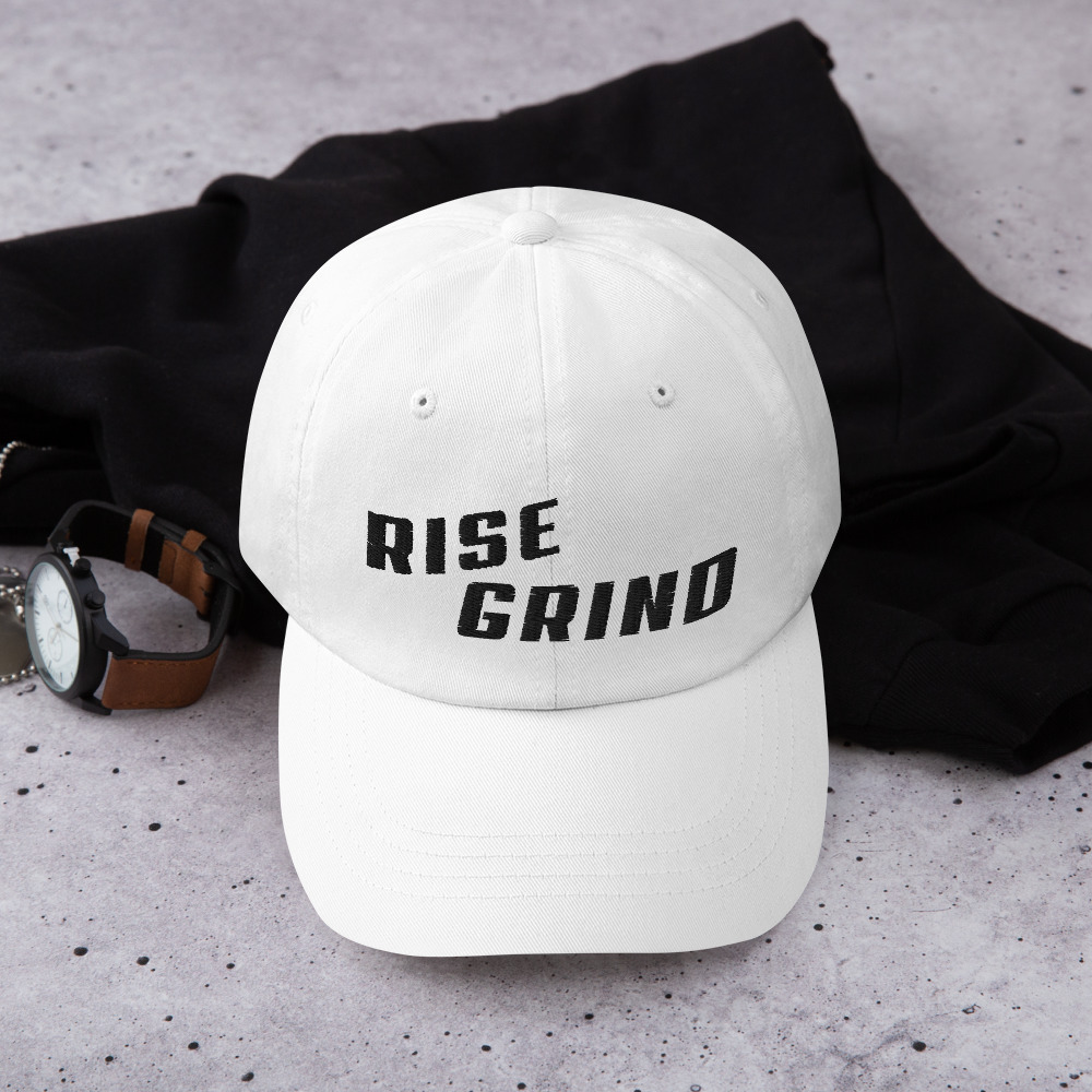Rise Grind Poker Hat - White