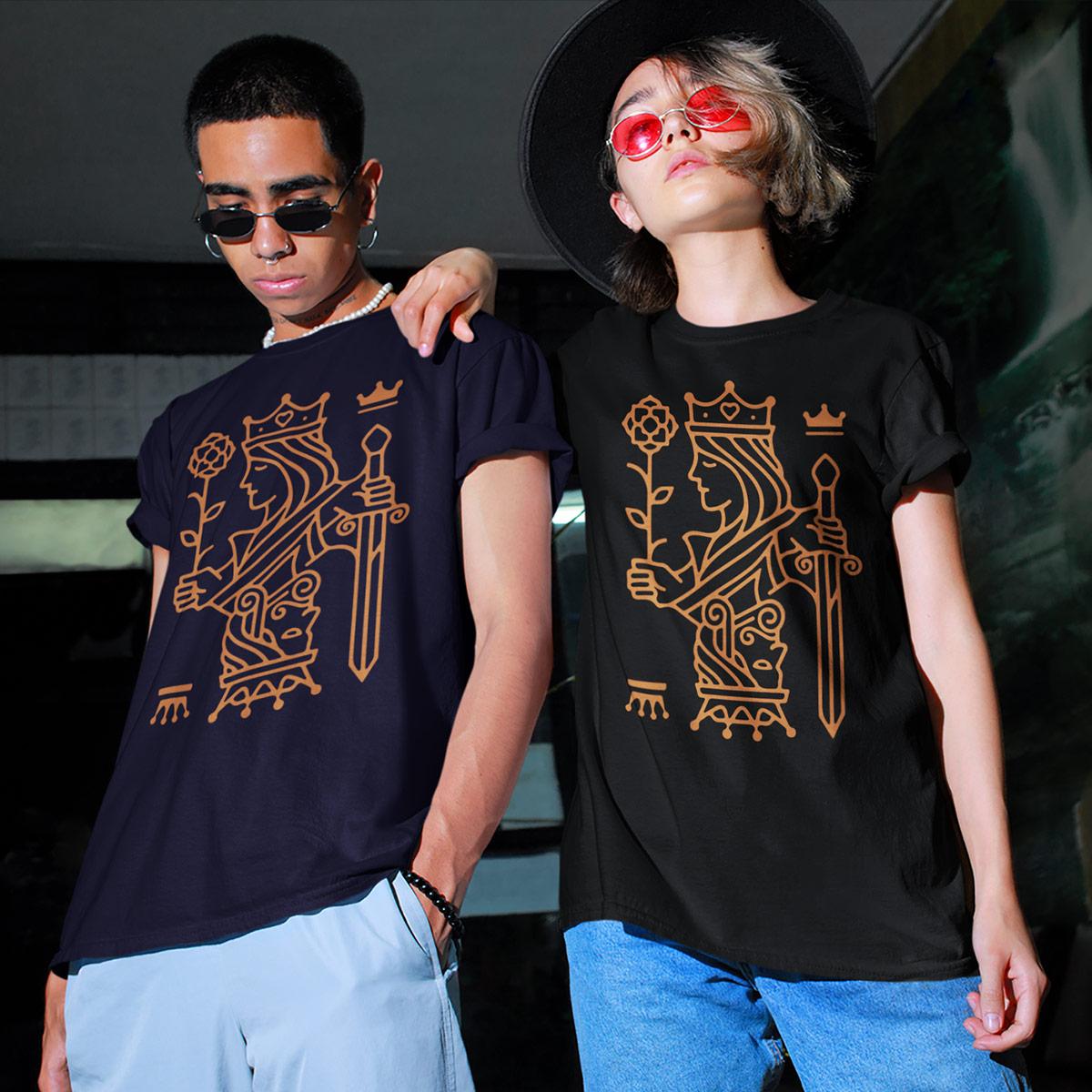 Queens Top Kings Poker T-Shirt - mockup