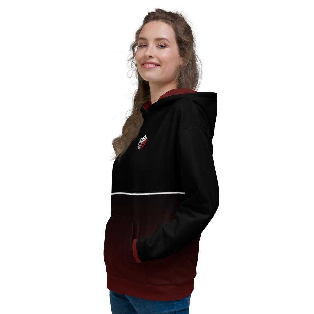 Mixed Games Movement All Over Print Hoodie - Left - Female