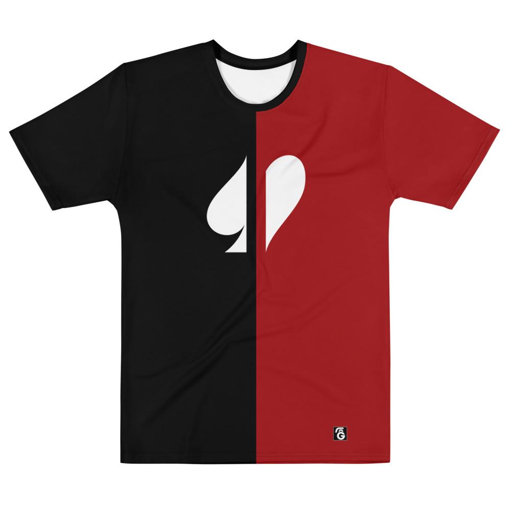 Split Suits Poker T-Shirt Front