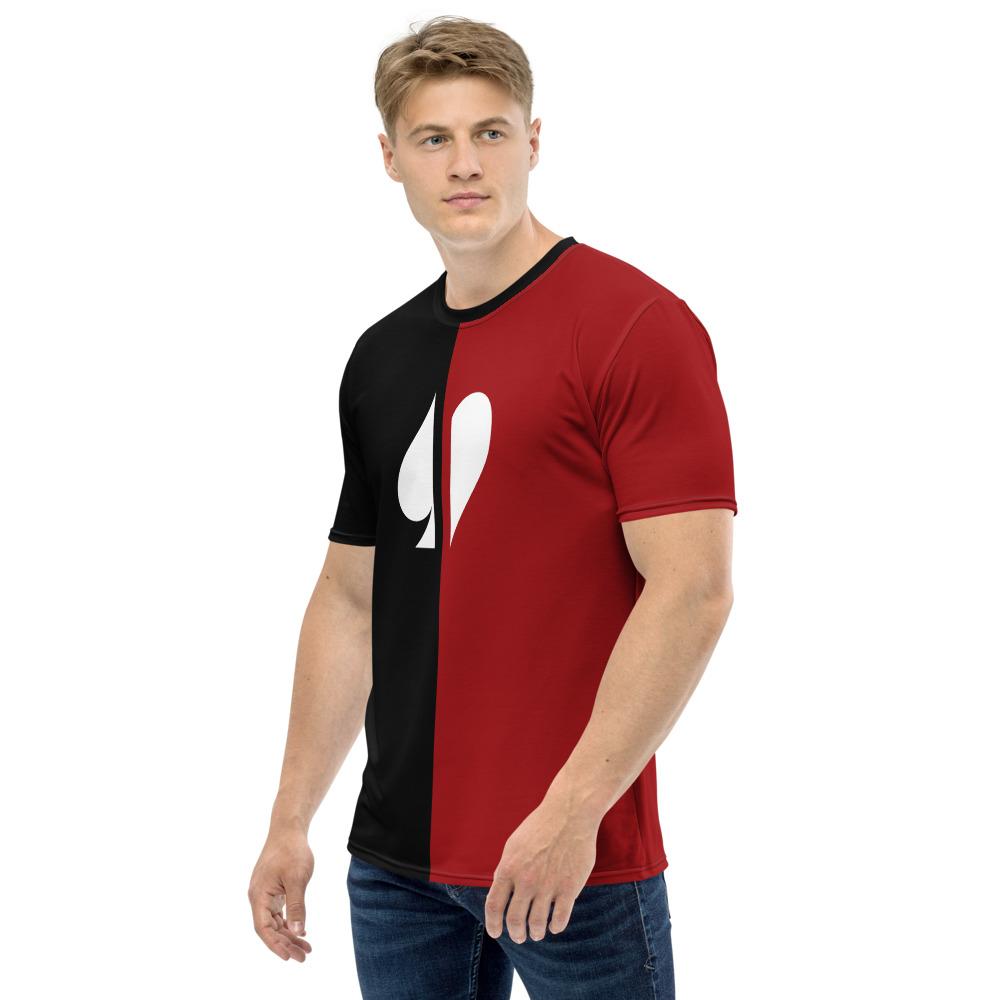 Split Suits Poker T-Shirt Left