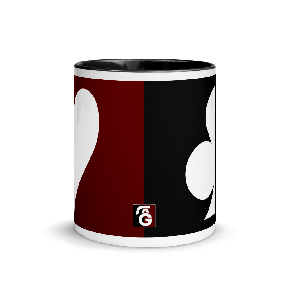Split Suits Poker Mug Centre View