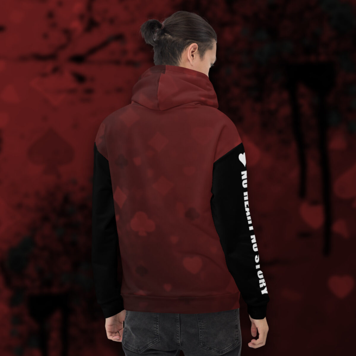 Play For The Win Poker Hoodie - Back