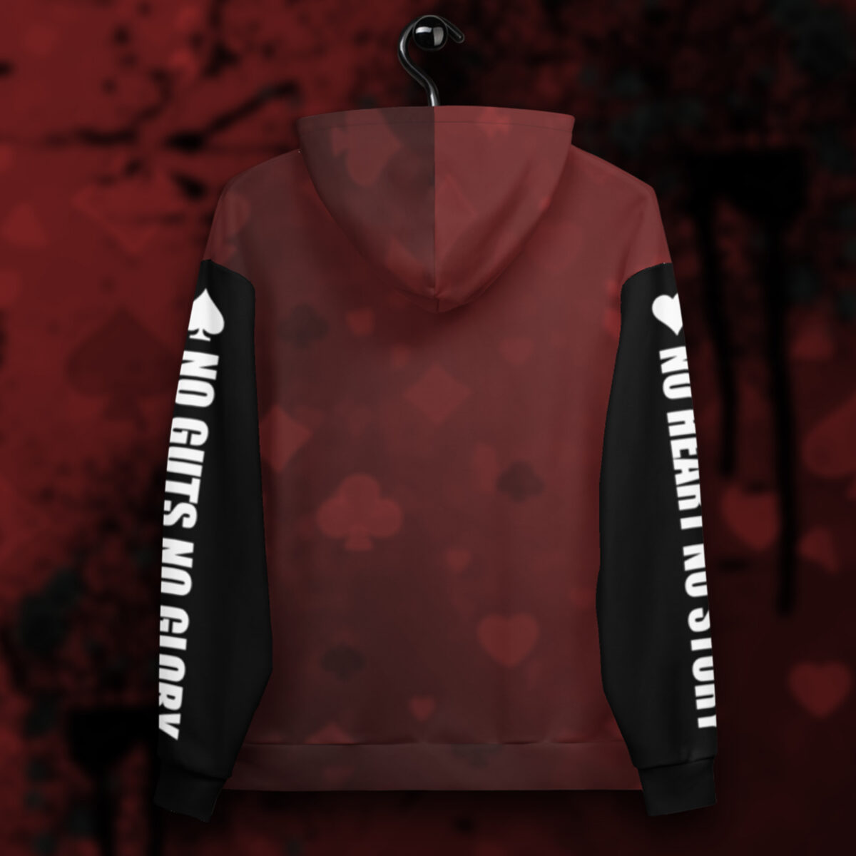 Play For The Win Poker Hoodie - Back On Hanger