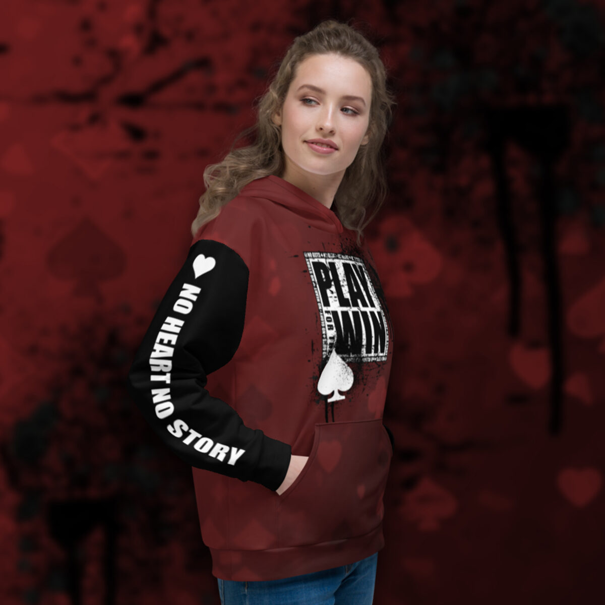 Play For The Win Poker Hoodie - Right